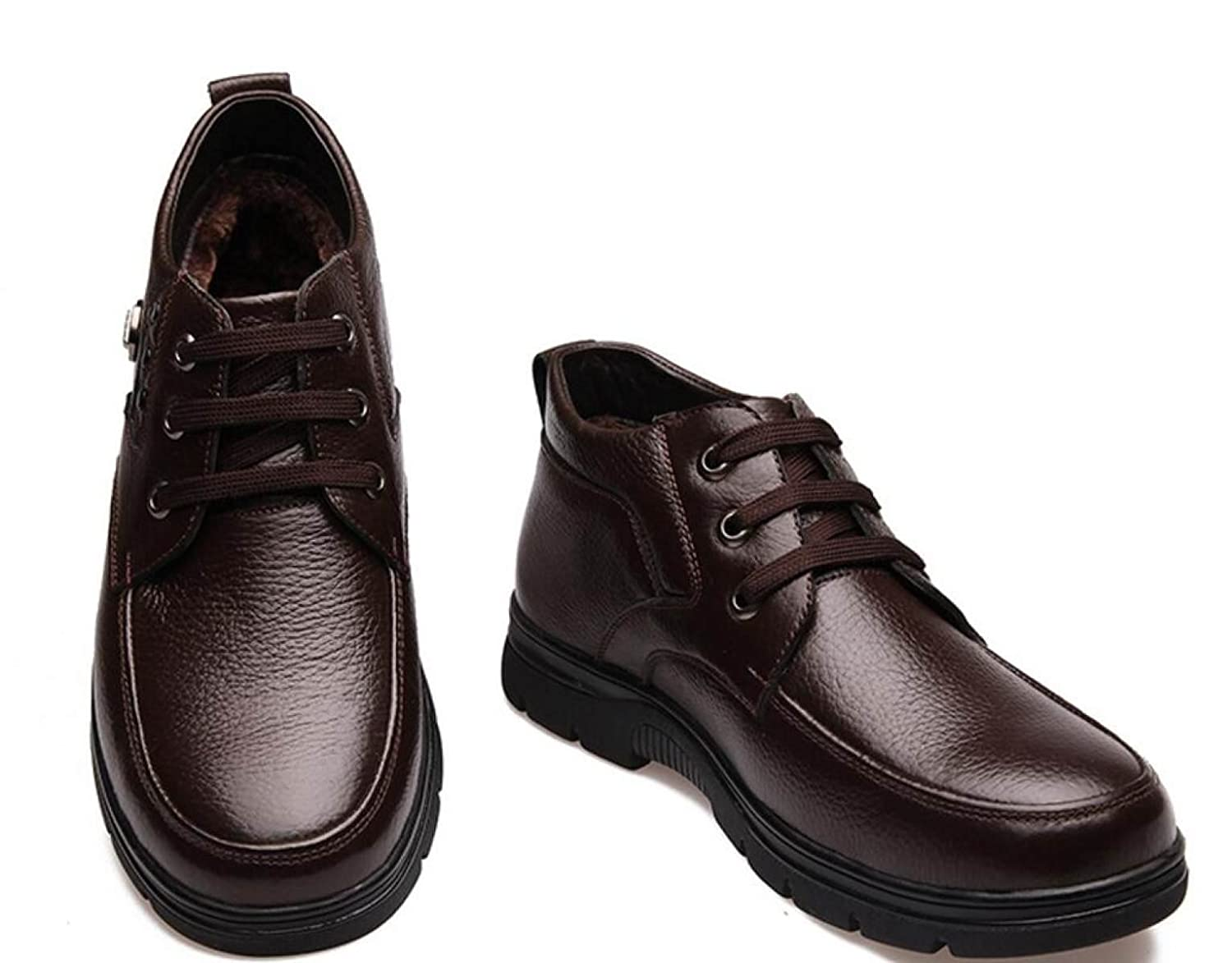CHENSH Male Winter Warm Cotton Shoes In The Elderly Thickening With Non - Slip  Shoes,Brown-41: Amazon.co.uk: Clothing