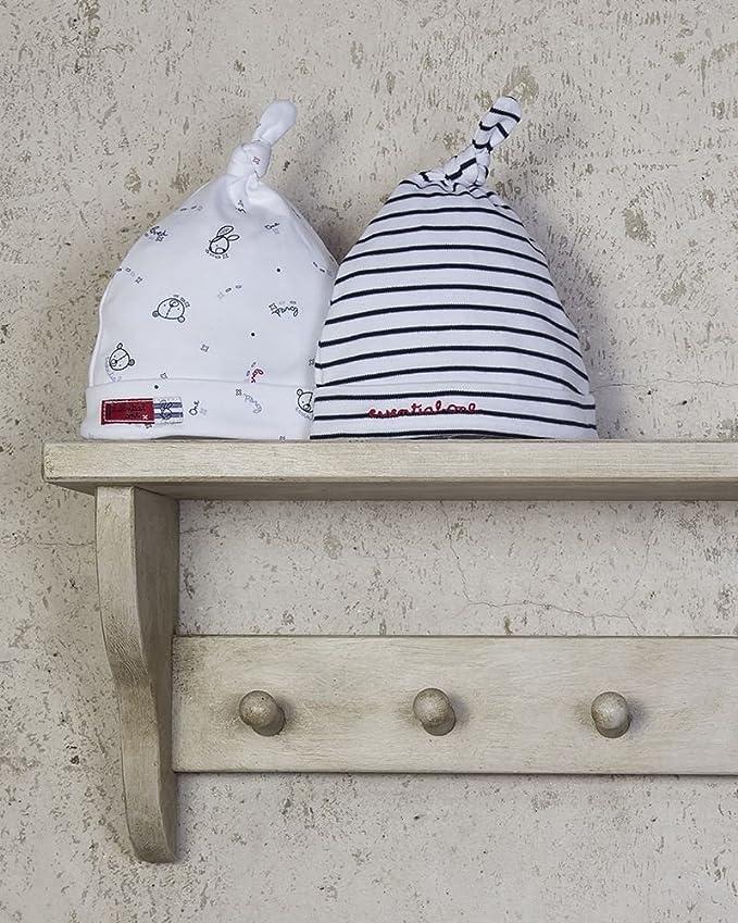The Essential One - Paquete de 2 Gorro para bebés Gorro para bebé algodón EOH10: Amazon.es: Bebé