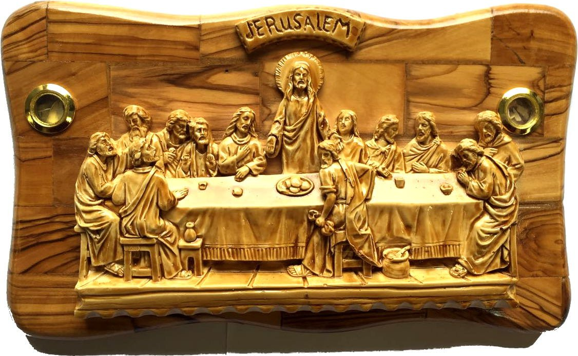 Amazon.com: OLive wood Last Supper Plaque Hand Made in Bethlehem ...