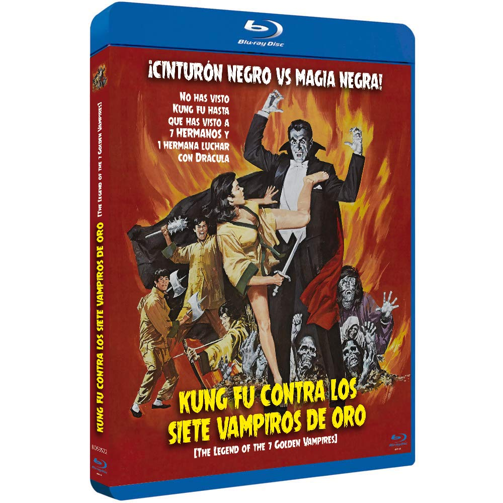 Kung Fu Contra los 7 Vampiros de Oro BDr 1974 The Legend of the 7 Golden Vampires [Blu-ray]