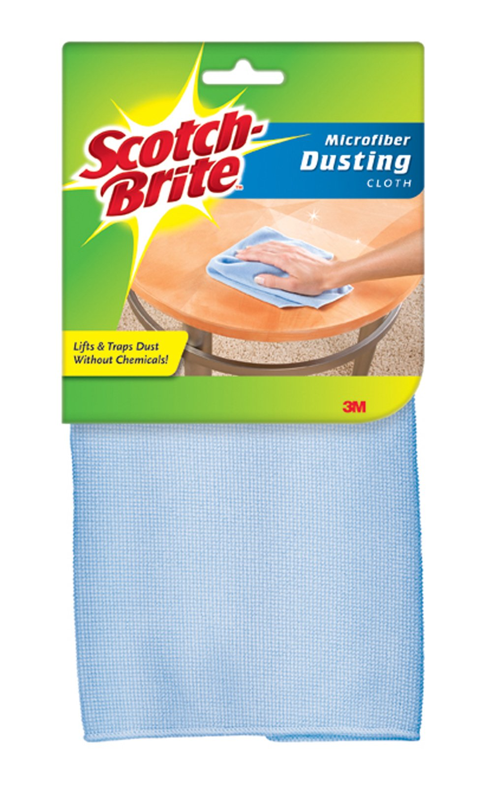 Scotch-Brite Dusting Microfiber Cloth, 1 ea (Colors May Vary)