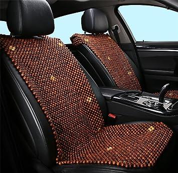 DIELIAN 1 St/ück Holzkugel-Sitzauflage Nat/ürliche Holzperlen R/ückenmassage Sitzauflage