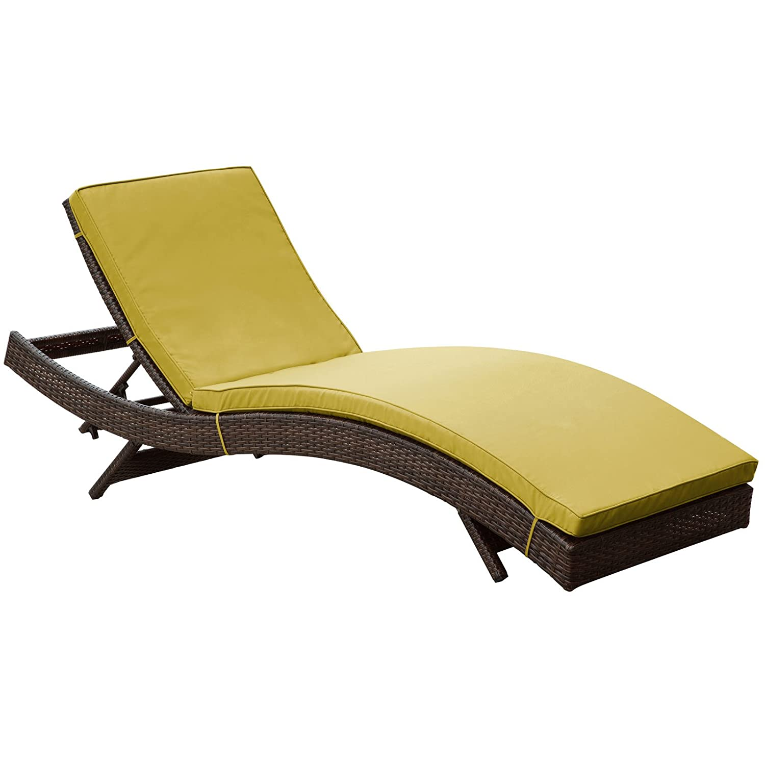 Amazon Modway Peer Outdoor Wicker Chaise Lounge Chair with