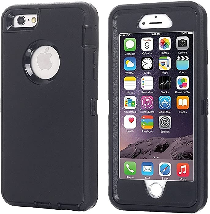 AICase iPhone 8 Plus/7 Plus Case, [Heavy Duty] [Full Body] Tough 3 in 1 Rugged Shockproof Water-Resistance Cover for Apple iPhone 8 Plus/7 Plus (Black)