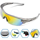 Amazon Price History for:Torege Polarized Sports Sunglasses With 5 Interchangeable Lenes for Men Women Cycling Running Driving Fishing Golf Baseball Glasses TR002