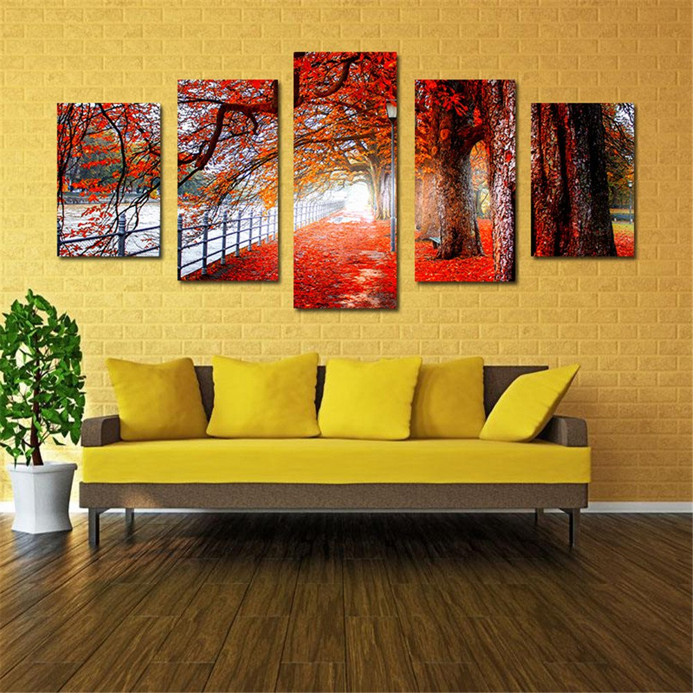Amazon.com: Abstract Oil Painting Frameless Huge Wall Art Oil ...