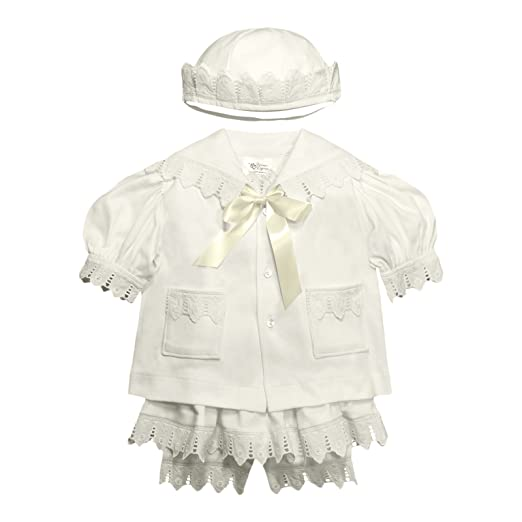 dfb84ff87 Amazon.com  Victorian Organics Baby Girl Sailor Set 4 Piece Organic ...