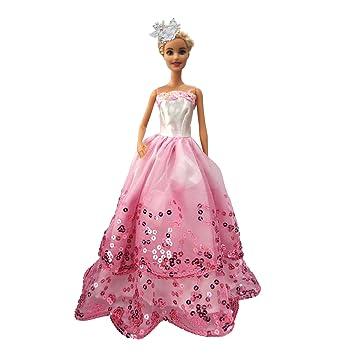 MOONBROOK Prinzessin-Abend-Partei-Kleidung trägt resse Spitze mit ...