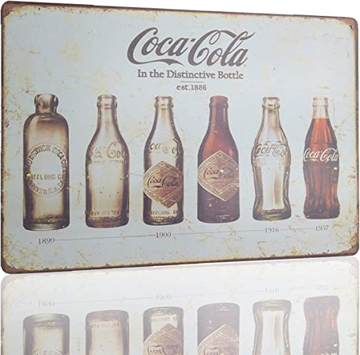 COCA COLA MENU METAL TIN SIGNS vintage cafe pub bar garage decor retro kitchen