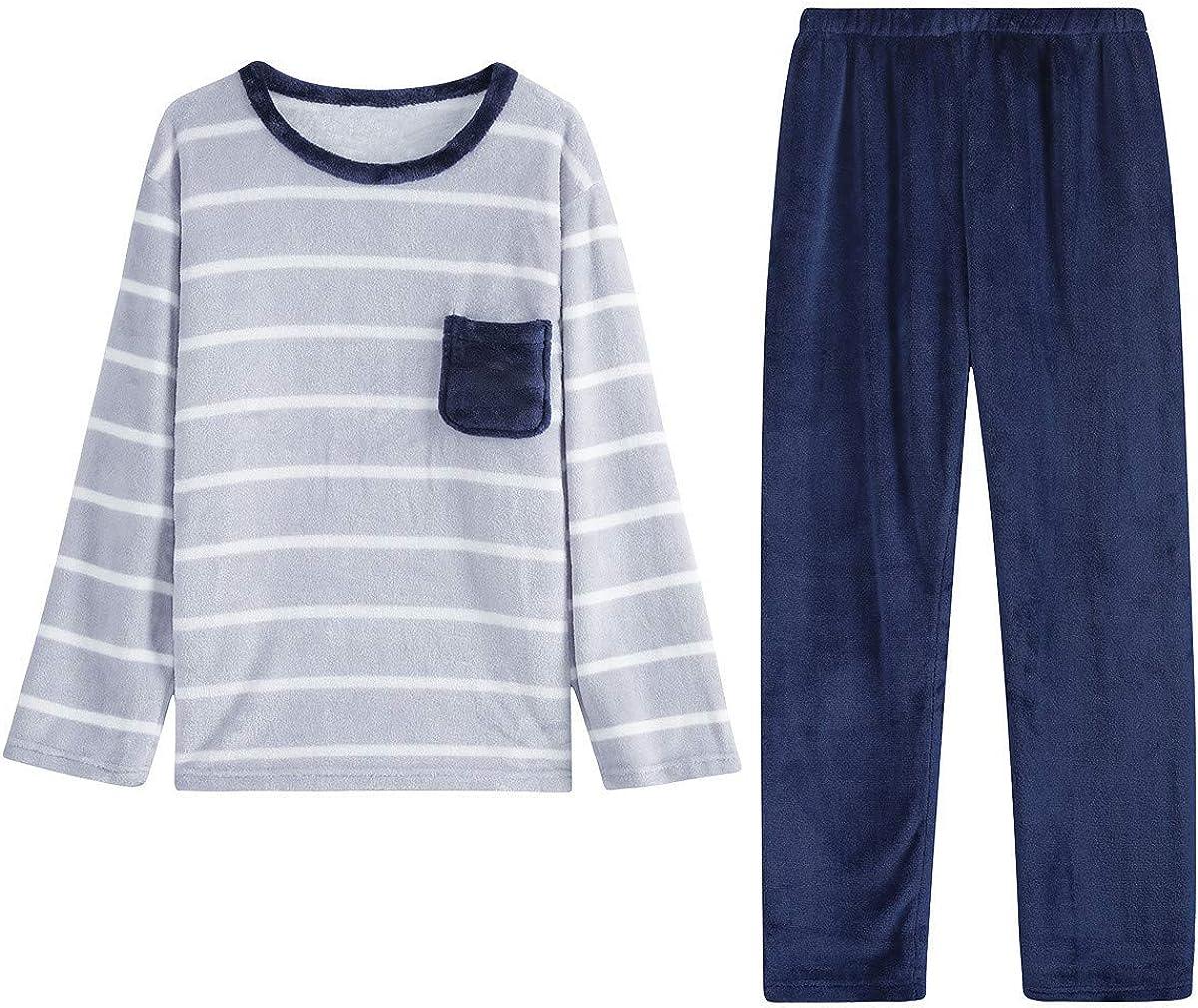 Amazon.com: TOP-MAX Young Mens Pajamas Set for Big Boys Warm Winter Fleece Pajamas  Set for Teens Boys Long Sleeve Sleepwear: Clothing
