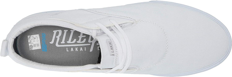 Lakai Footwear Summer 2019 RILEY2 Navy Canvas White Canvas
