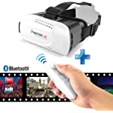 """Insten [Adjustable] 3D VR Virtual Reality Headset W/ Wireless Remote Controller Fit For iPhone X/8/8 Plus/7/6S, Samsung Galaxy S8/S7 Edge/S7, Smartphones Within 4.7 - 6"""" Perfect for 3D Movies/Games"""