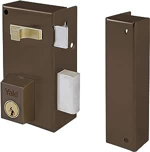 Yale 56AR60IHN - Cerradura de sobreponer estándar para puertas niquelado (entrada 35 mm izquierda 56-A cilindro redondo): Amazon.es: Bricolaje y herramientas