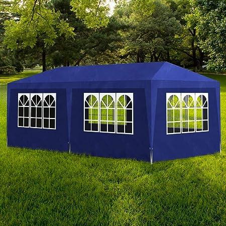 ghuanton Carpa de Fiesta 3x6 6 Paredes Azul Casa y jardín Jardín Artículos de Exterior Estructuras de Exteriores Pabellones y cenadores: Amazon.es: Hogar