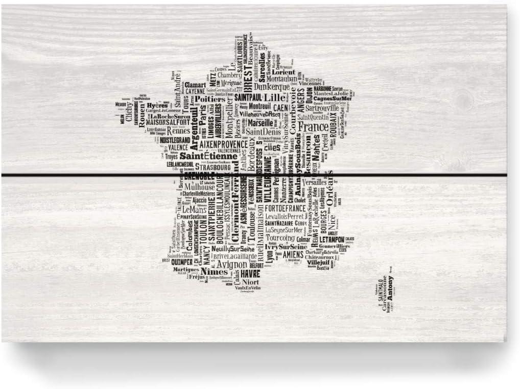 artboxone Madera de tipografía Cartografía