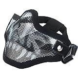 Coxeer Mesh Gesicht Schädel Maske Airsoft Halbmaske Ausrüstung Stahl Airsoft Masken