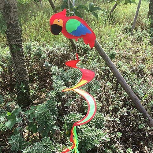 Delight eshop animal spiral windmill colorful wind spinner for Lawn and garden decorative accessories