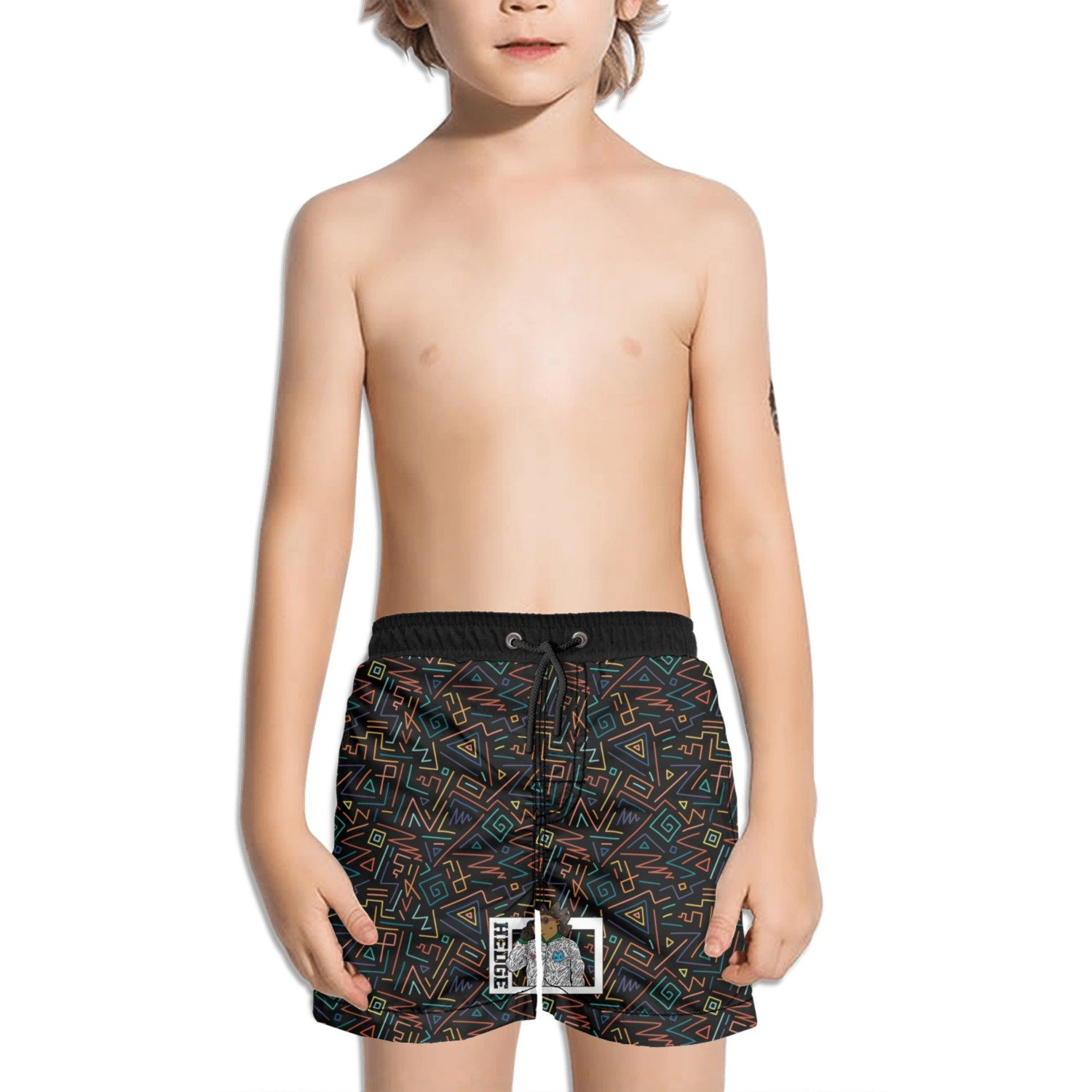 Trum Namii Boy's Quick Dry Swim Trunks Living On The Hedge Hedgehog with Glasses Shorts
