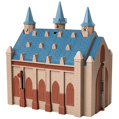 Harry Potter Hogwarts Great Hall Mini Playset with 5 Interactive Features, 4 Mini Figures, Podium, Goblet, Plus Works with Wizard Training Wands (Sold Separately): Toys & Games