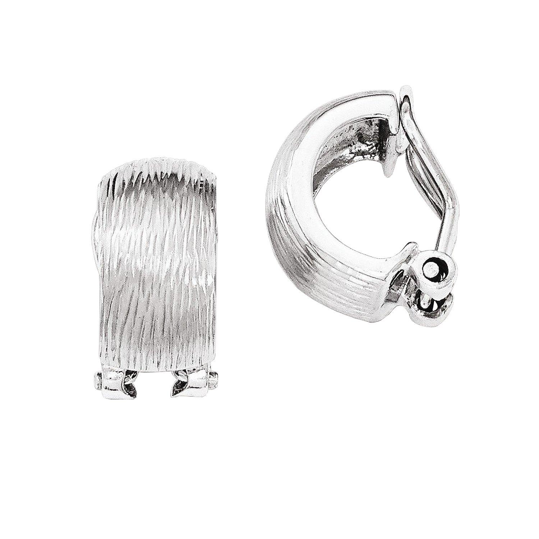 c80a63484336c Amazon.com: Sterling Silver Diamond Cut Patterned Omega Back Non ...