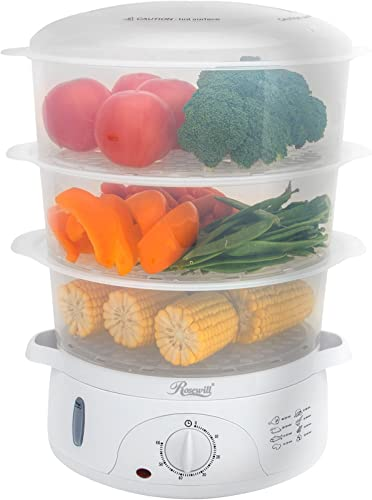 Rosewill-3-Tier-Stackable-Baskets-Electric-Timer-Food-Steamer