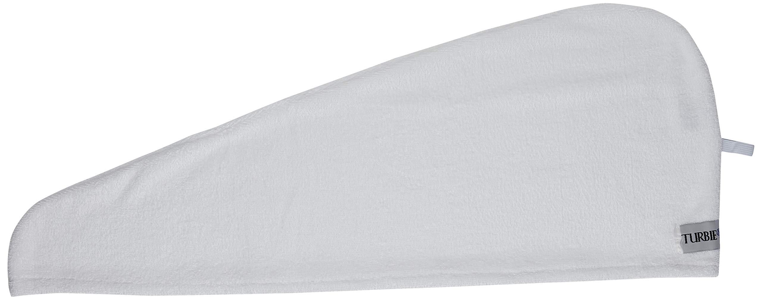 Turbie Twist Microfiber Hair Towel 2 Pack(White) by Turbie Twist