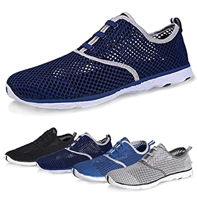 99f8647a775387 Water Shoes for Men Quick Drying Aqua Shoes Beach Pool Shoes (Navy, 39)