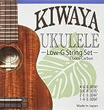 【KIWAYA】 KFC-LG フロロカーボン弦 Low-G セット (オールサイズ対応 ウクレレ弦 クリア)