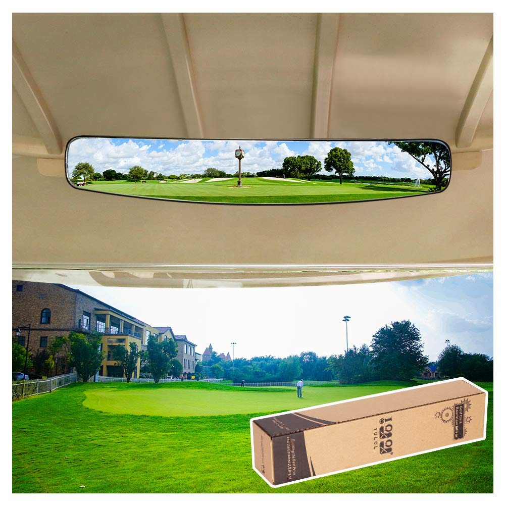 10L0L 16.5'' Extra Wide 180 Degree Panoramic Rear View Mirror for Golf Carts EzGo Yamaha by 10L0L