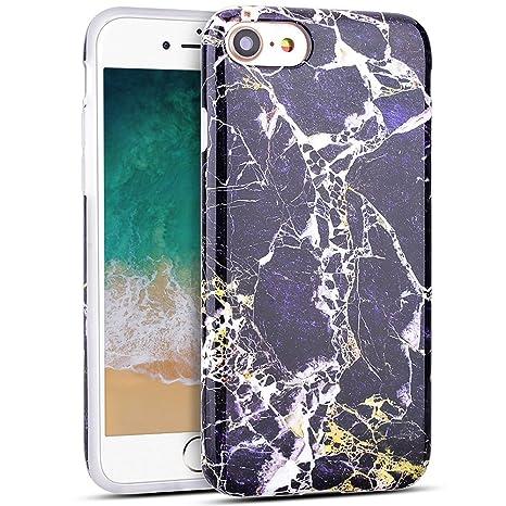 MoEvn Funda iPhone 8/7, Mármol Suave TPU Silicona Carcasa iPhone 8 Flexible Goma Gel Protectora Caso iPhone 7 Ultra Fina Protector Bumper Tapa Anti ...