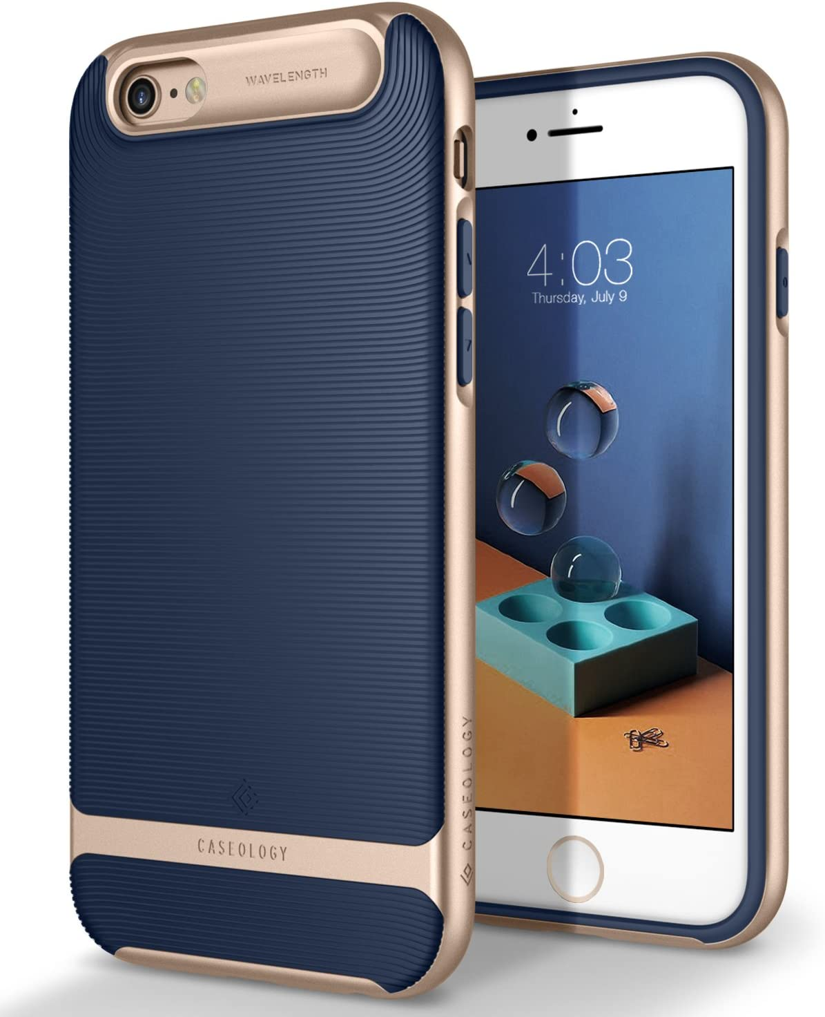 Caseology Wavelength for Apple iPhone 6S Case (2015) / for iPhone 6 Case (2014) - Navy Blue