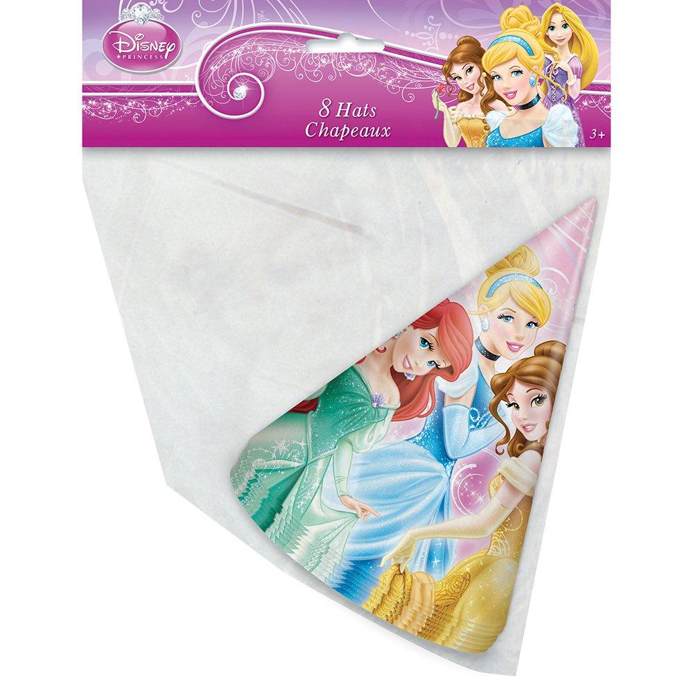 Disney Princess Party Cone Hats-8 count