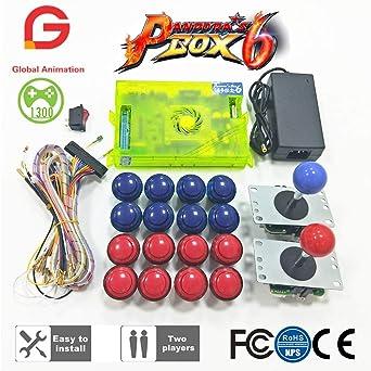 Original Pandora Box 6 1300 Games Set DIY Arcade Kit Push Buuttons  Joysticks Arcade Machine 2 Joysticks Bundle Home Cabin [video game]