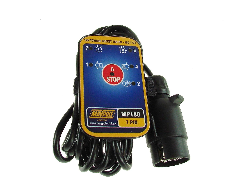 12/N Maypole 180B BK Comprobador de Socket Remolque Cable 3.5/m
