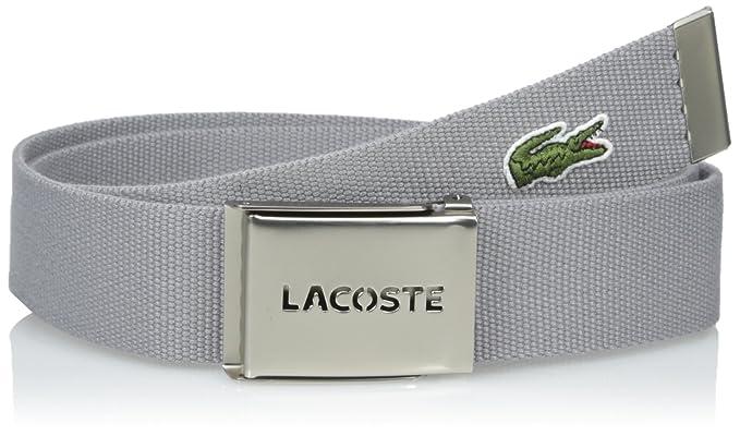 55a4b1d864b0c2 Lacoste Textile Signature - Cinturón con logotipo de cocodrilo para hombre