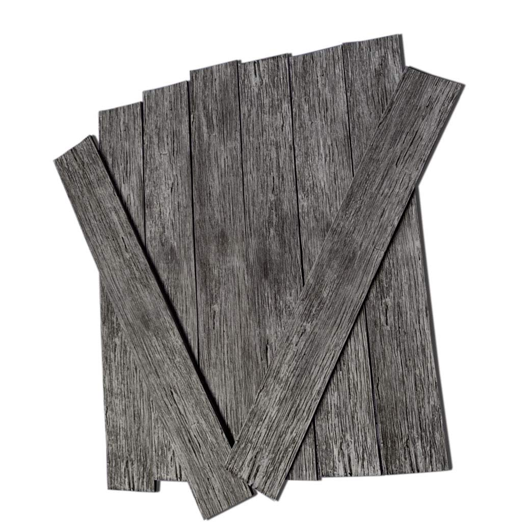 Wall Puzzle - Peel-and-Stick Flexible Wood Panels for Wall Decor, Pillars, Kitchen Counters, DIY Projects (10 sqft) (Dark Grey) by Urban Decor MagicWood (Image #7)