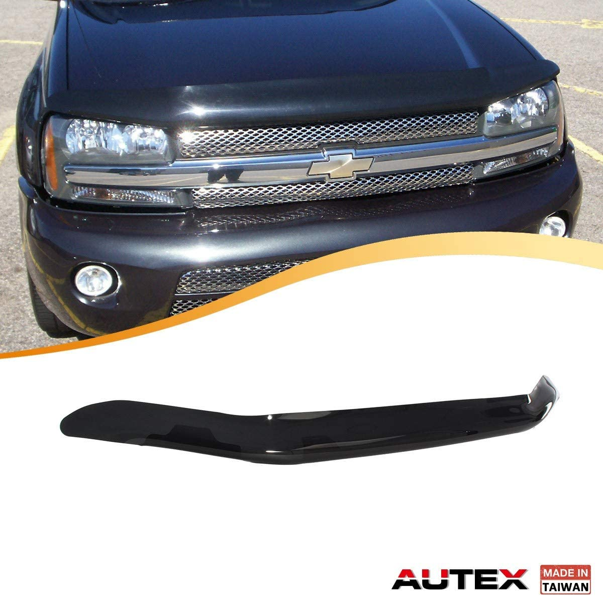 For Chevy Trailblazer 2002-2007 Westin Platinum Smoke Bug Shield