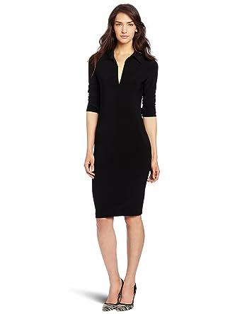 Amazon.com: KAMALIKULTURE Women's Shirt Dress, Black, X-Small ...