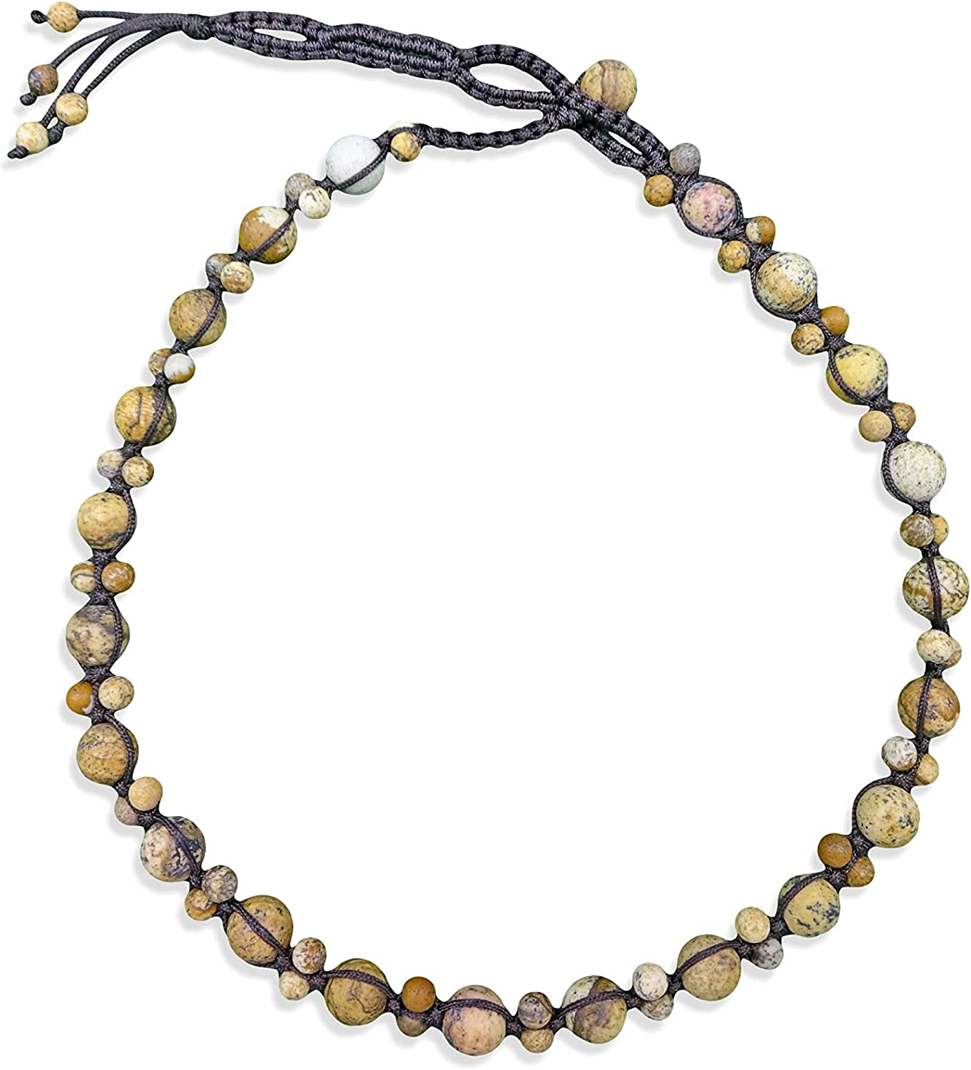 Shell One of a Kind Hand Braided Semi Precious Stones and Turquoise Beaded Necklace with Pearls