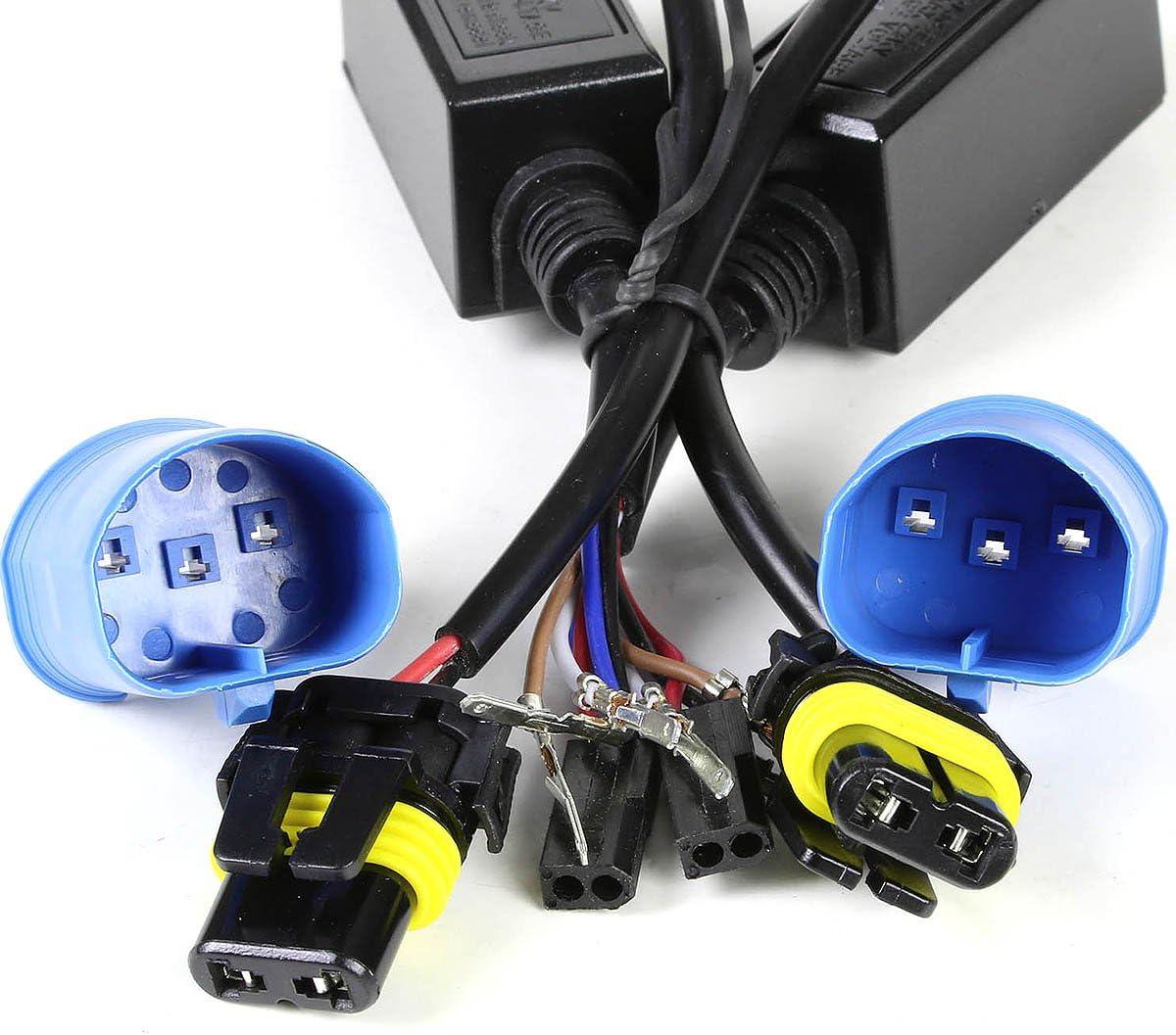 Pair of H7 10000K Deep Blue High//Low Beam HID Xenon Conversion 35W Light Bulbs