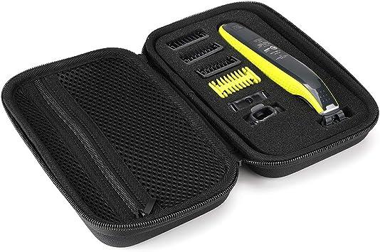 ProCase Estuche Portable para Philips Norelco OneBlade, EVA Duradero y Resistente Antigolpes para Almacenar y Transportar Philips Norelco One Blade QP2520, QP2530, QP2620, QP2630 -Negro: Amazon.es: Electrónica