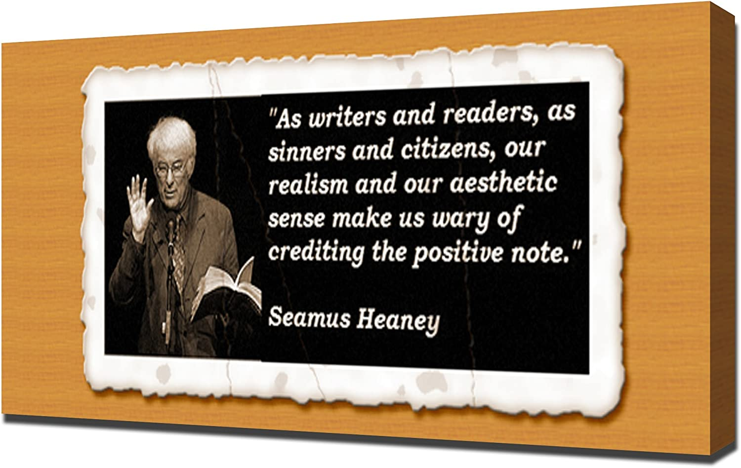 com seamus heaney quotes canvas art print posters