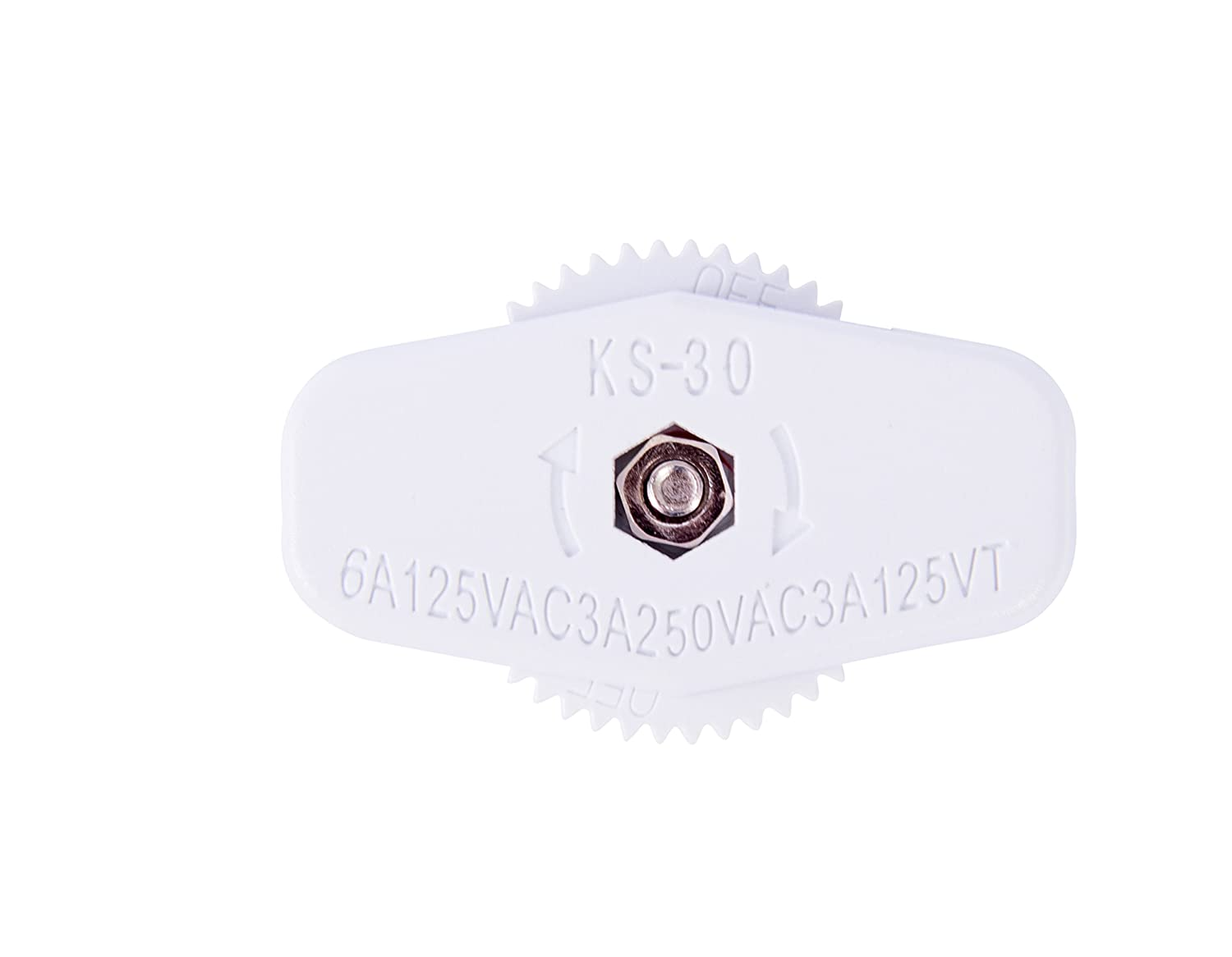 Gardner Bender GSW-72 Heavy-Duty Electrical Cord Switch ON-OFF SPST 6 A//125V AC Insulation Displacement White