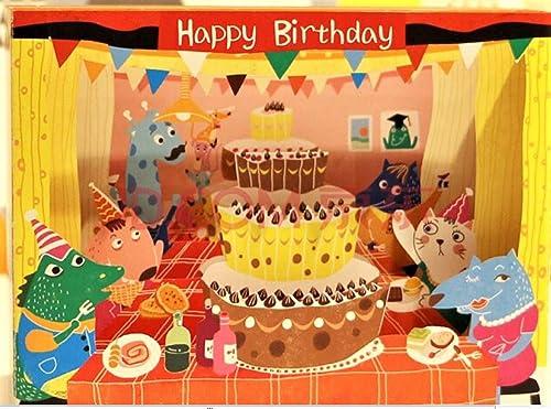 4D pop up box tarjeta de feliz cumpleaños niño hijo hija ...