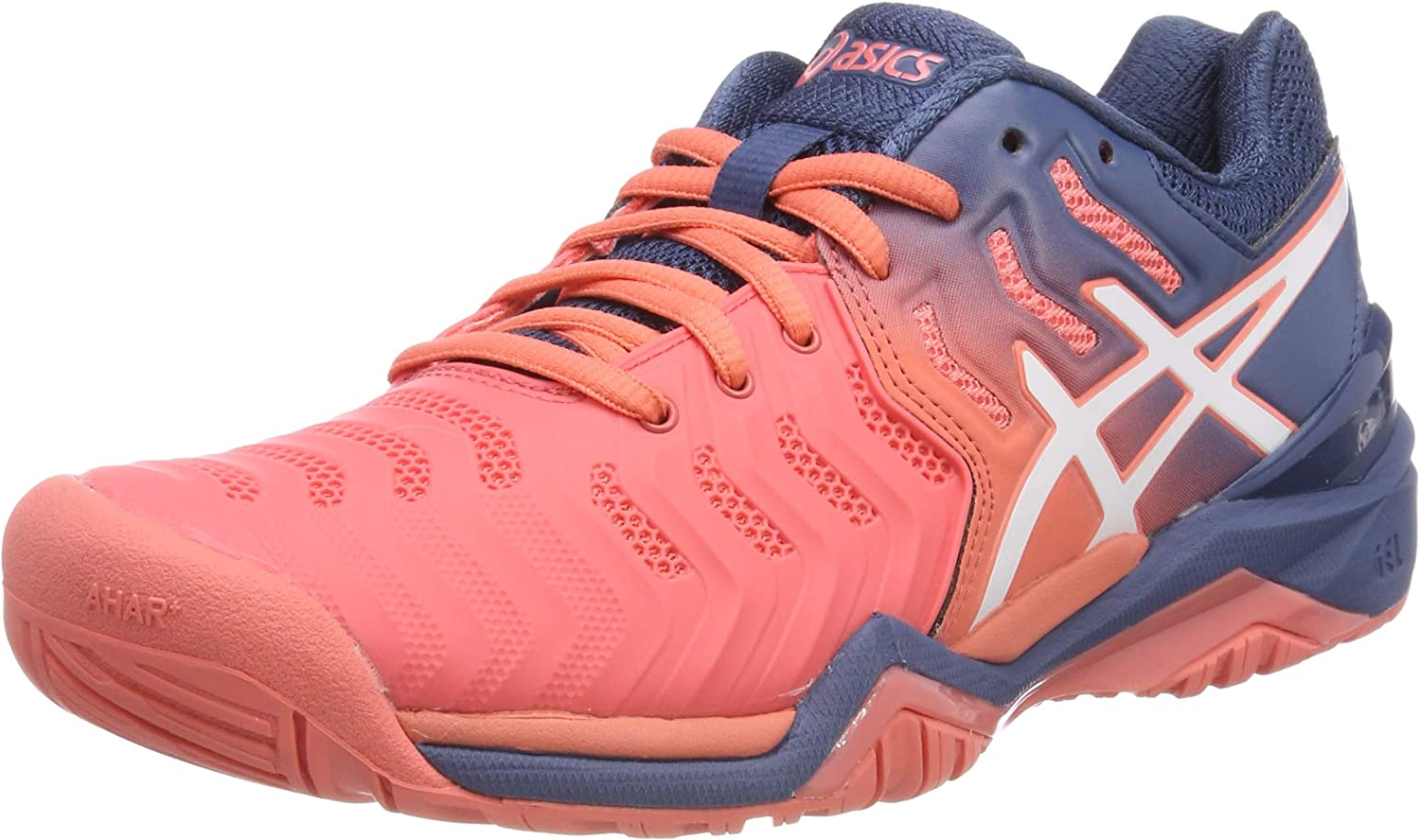 Asics Womens Gel-Solution Speed FF Tennis Shoes Pink Sports Breathable