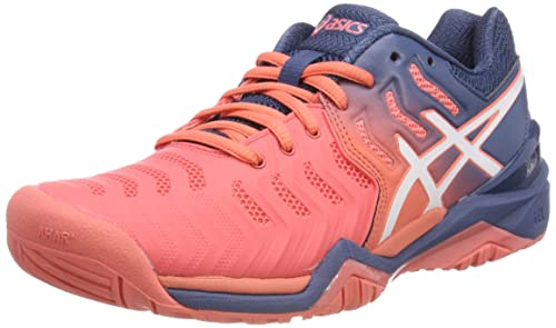 ASICS Damen Gel-Resolution 7 Tennisschuhe, Pink, 43.5 EU