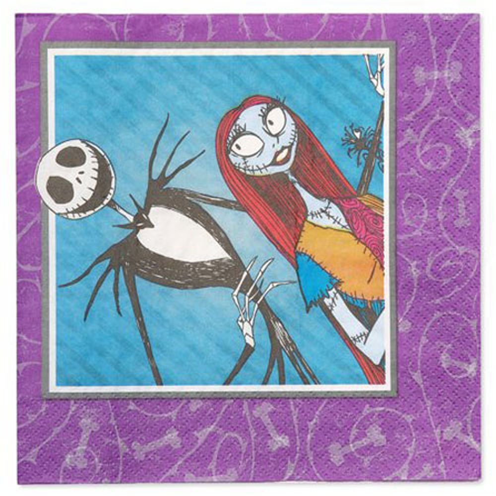 Nightmare Beforeクリスマス' Jack and Sally ' Lunch Napkins (16ct) B07G1SBGNY