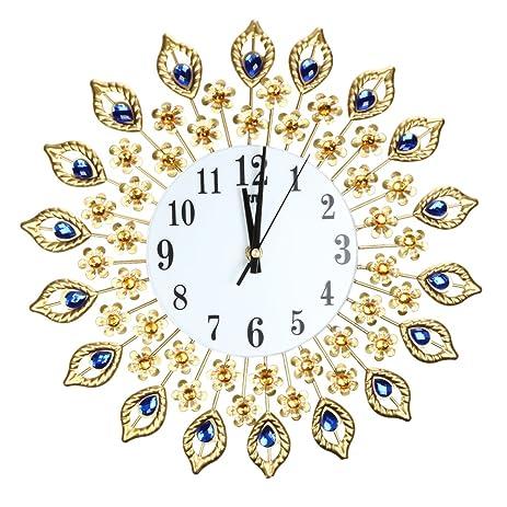 Amazon.com: Awakingdemi Luxury Diamond Crystal Leaf Large Wall ...