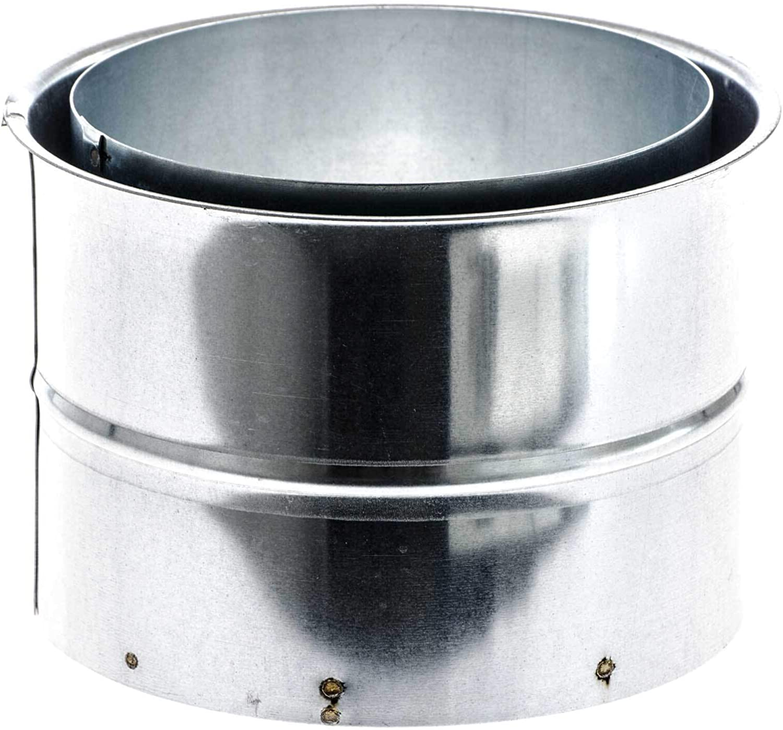 SIDCO Wandfutter Doppelwandfutter 80 mm Ofenrohr Rauchrohr Kaminanschluss Ofen