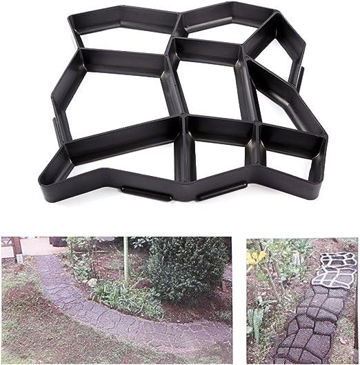 Paving losas para azulejos de jardín de hormigón molde molde la entrada pavimento eléctrica ladrillo: Amazon.es: Jardín